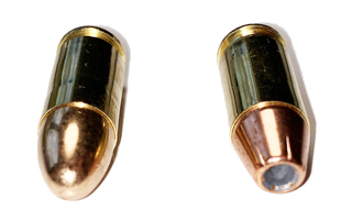 A Full Metal Jacket Cartridge (L) and a Hollow Point Cartridge (R)
